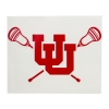Image for Utah Utes Interlocking U Vinyl Lacrosse Decal