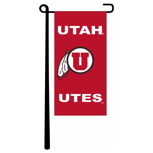 Image For Utah Utes Athletic Logo Miniature Garden Banner