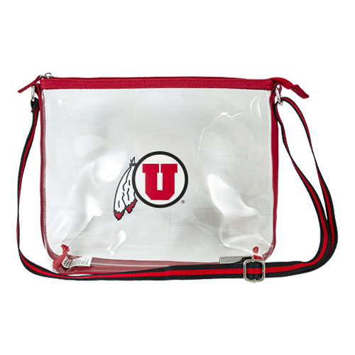Image For Utah Utes Athletic Logo Clear Shoulder Bag