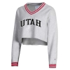 Image for Utah Utes Varsity Crop V-Neck Sweatshirt