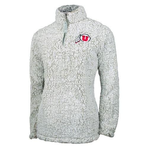 Image For Utah Utes Athletic Logo Sherpa Women's Quarter Zip