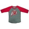 Image for Utah Utes Athletic Logo Girls Baseball Tee