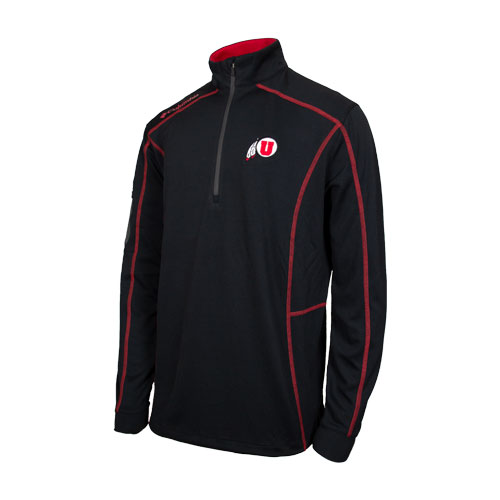 Image For Utah Utes Athletic Logo Quarter Zip Jacket