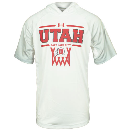 Image For Utah Utes Under Armour Basketball Hooded T-Shirt