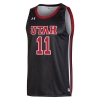 Image for Utah Utes Under Armour Basketball Black #11 Jersey