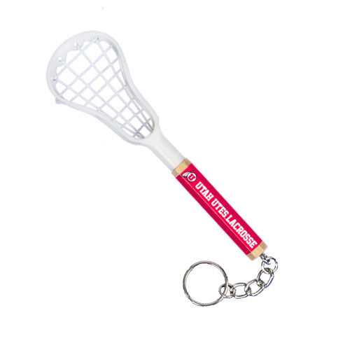 Cover Image For Utah Utes Lacrosse Stick Keychain
