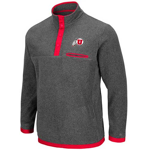 Cover Image For Utah Utes Athletic Logo Grey Fleece Pullover