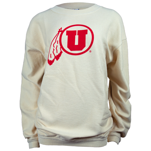 Image For Utah Utes Athletic Logo Womens Corded Crew