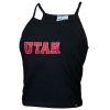 Image for Utah Utes Black Cropped Tank Top