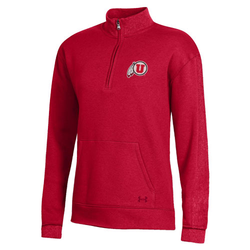 Cover Image For Utah Utes Women's Under Armour Fleece Quarter Zip
