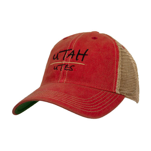 Cover Image For Utah Utes Faded Youth Adjustable Trucker Hat
