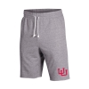 Image for Utah Utes Interlocking U Under Armour Grey Terry Shorts