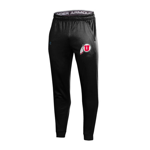 Image For Utah Utes Under Armour Athletic Logo Black Jogger Pants