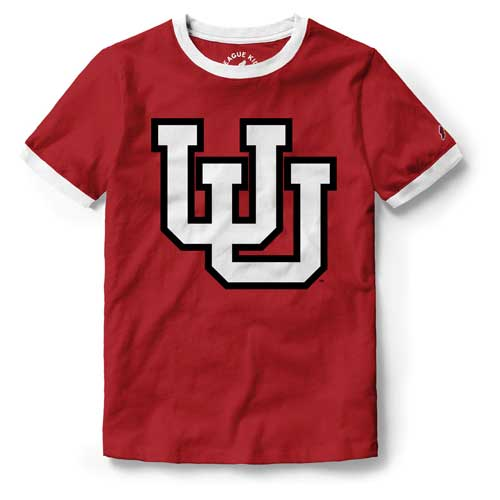 Cover Image For Utah Utes Interlocking U Girl's Ringer T-Shirt
