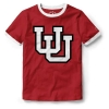 Image for Utah Utes Interlocking U Girl's Ringer T-Shirt
