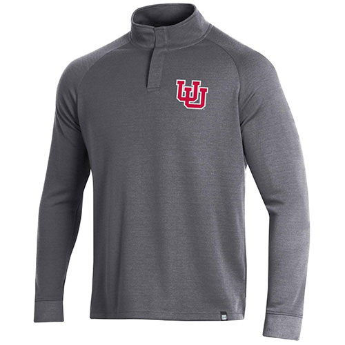 Image For Under Armour Interlocking U Snap Quarter Zip Long Sleeve