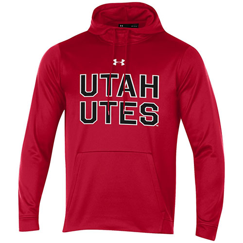 Image For Utah Utes Bold Under Armour Red Twill Hoodie