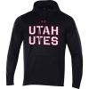 Image for Utah Utes Bold Under Armour Black Twill Hoodie