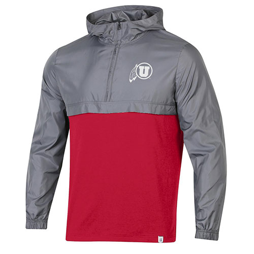 Cover Image For Utah Utes Athletic Logo Under Armour Half Zip Jacket