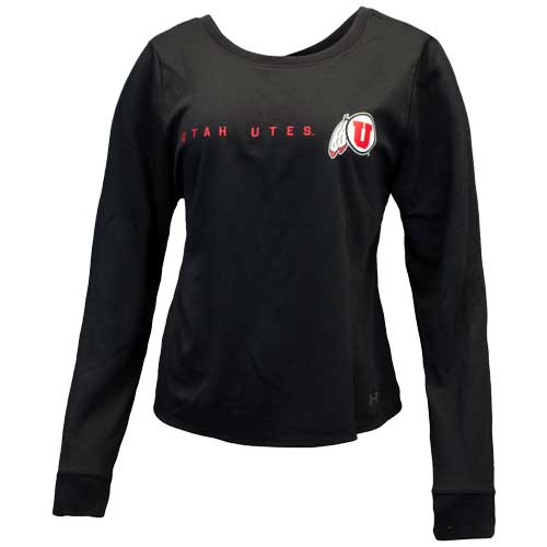 Cover Image For Utah Utes Under Armour Womens Cross-Back Long Sleeve Shirt