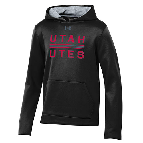 Image For Utah Utes Under Armour Black Youth Hoodie