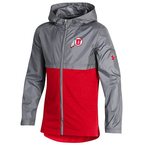 Image For Utah Utes Youth Under Armour Full Zip Jacket