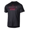 Image for Utah Utes Under Armour Lettered Black T-Shirt