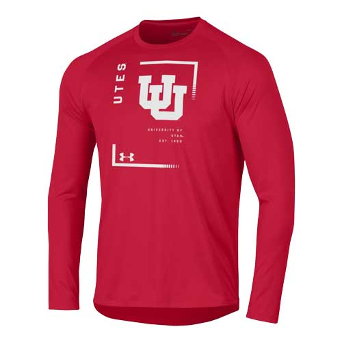 Image For Utah Utes Under Armour Interlocking U Longsleeve T-Shirt