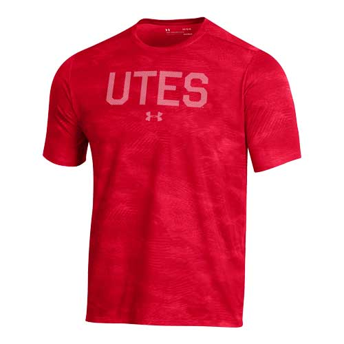 Cover Image For Utah Utes Under Armour Striped Patterned T-Shirt