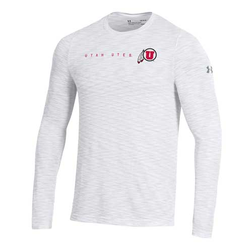 Image For Utah Utes Under Armour Athletic Logo Patterned Shirt