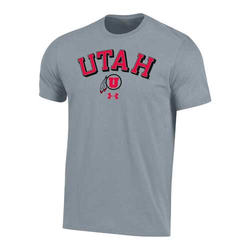 Image For Utah Utes Under Armour Arched Utah Athletic Logo T-Shirt