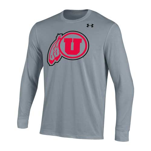 Cover Image For Utah Utes Under Armour Outlined Athletic Logo Long Sleeve