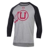 Image for Utah Utes Under Armour Throwback Baseball Tee Quarter Sleeve