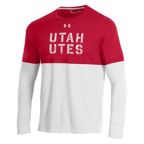 Cover Image For Utah Utes Under Armour Color Block Long Sleeve