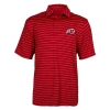 Image for Utah Utes Under Armour Athletic Logo Red Striped Polo Shirt