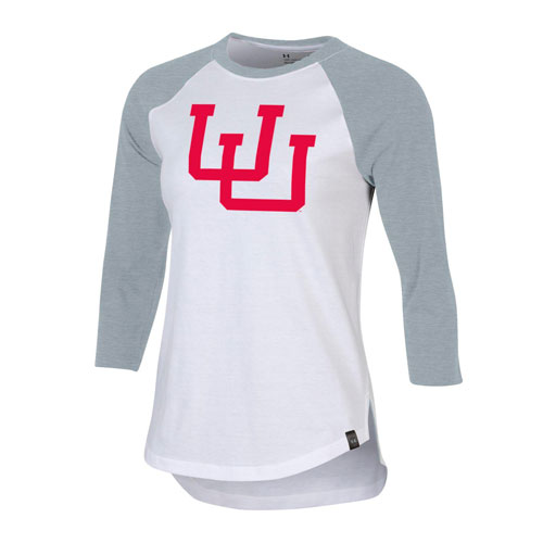 Image For Utah Utes Interlocking U Under Armour Women's Raglan Tee
