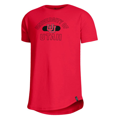 Image For Utah Utes Under Armour Girls Interlocking U T-shirt