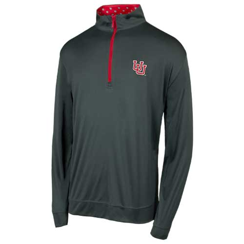 Image For Utah Utes Interlocking U Horn Legend Grey Quarter Zip
