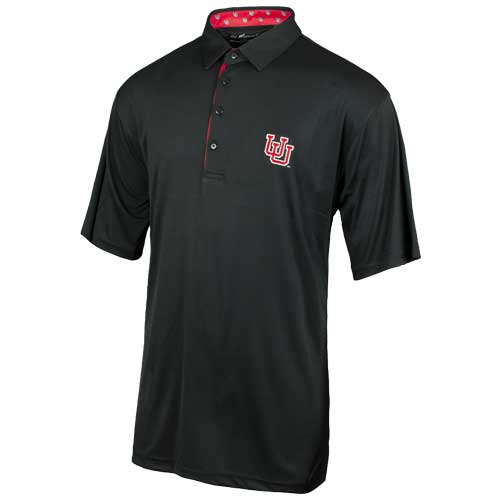 Cover Image For Utah Utes Interlocking U Horn Legend Button Down