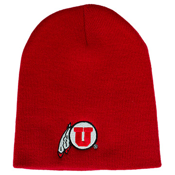 Image For Youth Red Athletic Logo Beanie