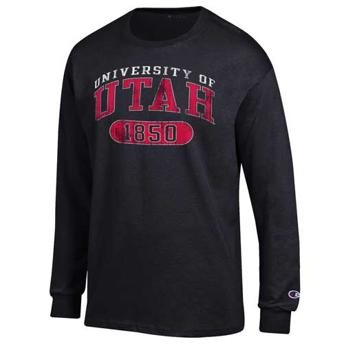 Image For Utah Utes Distressed Champion Long Sleeve