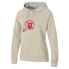 Image for Utah Utes Distressed Athletic Logo Oatmeal Hoodie