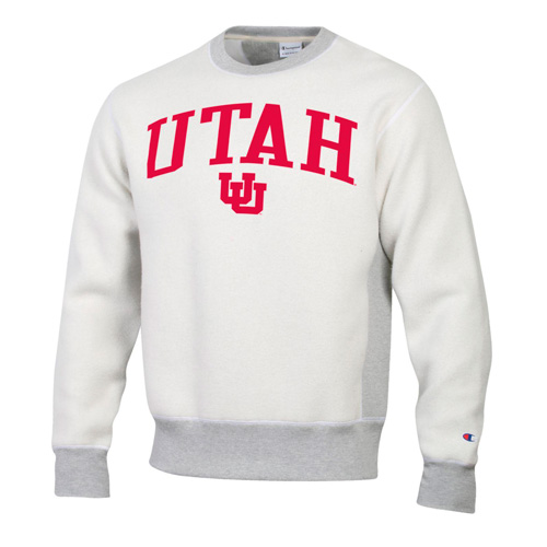 Image For Utah Utes Interlocking U Reversed Out Crew Neck Sweatshirt