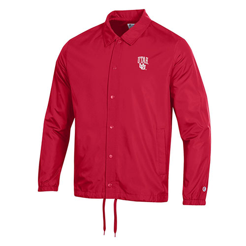 Image For Utah Utes Interlocking U Champion Coaches Windbreaker