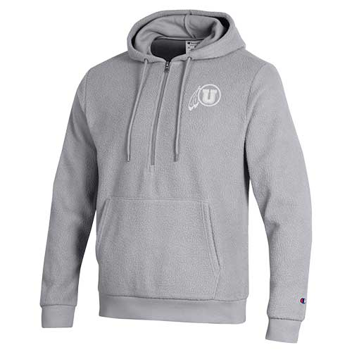 Image For Utah Utes Grey Champion Sherpa Pullover