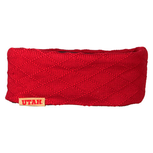Image For Utah Utes Red Crosshatch Headband