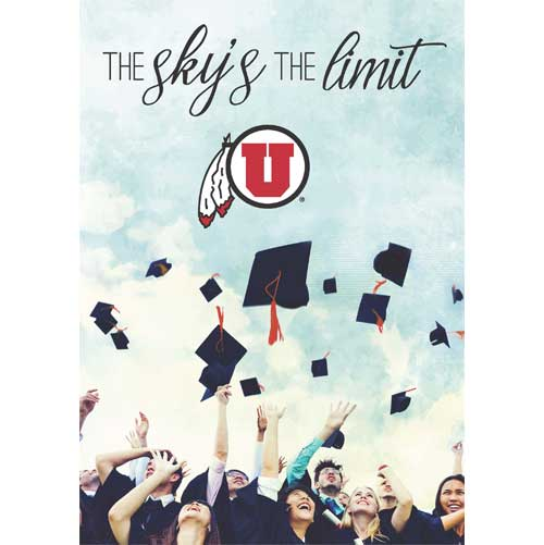 Image For University of Utah The Sky's the Limit Greeting Card