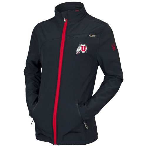 Cover Image For Utah Utes Athletic Logo Women's Spyder Softshell Jacket