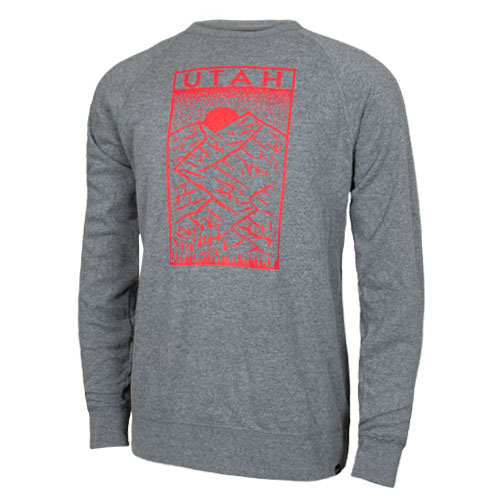 9553f583c339 Image For Utah Utes Scenic Mountain Crew Neck Sweatshirt
