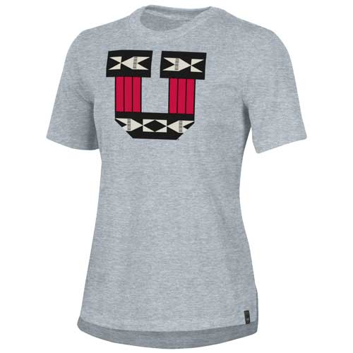 Cover Image For Utah Utes Under Armour Ute Proud Block U Women's Shirt